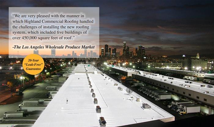 L.A. WHOLESALE PRODUCE MARKET/INDUSTRIAL COMPLEX/448,000 FT. RE ROOF