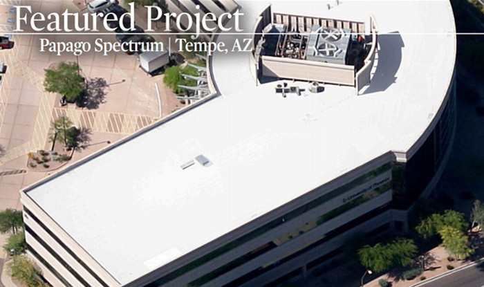 Papago Spectrum Office Complex Seamless Roofing