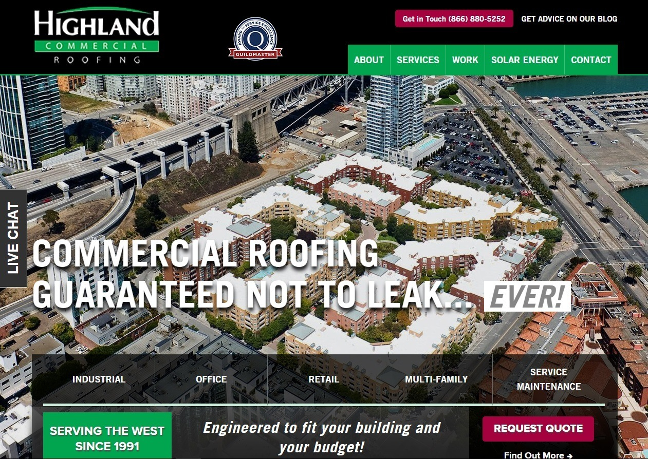 Highland Commercial Roofing Celebrates 25th Anniversary With Website  Redesign   Highland Roofing
