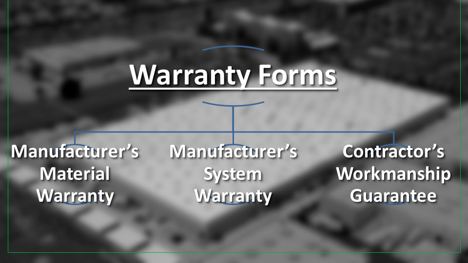 Thee Forms of Commercial Roofing Warranties